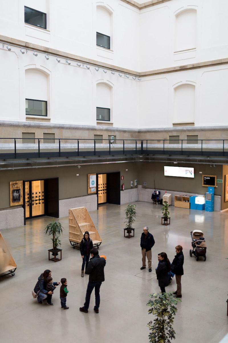 Patio interior de Tabakalera, Centro Internacional de Cultura Contemporánea