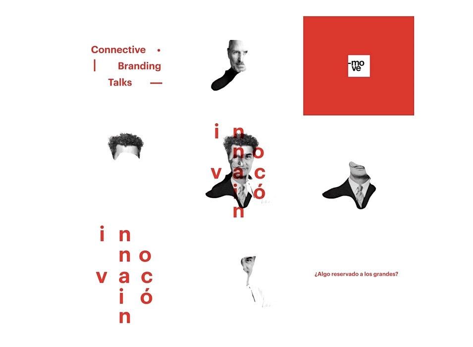 Imagen gráfica del Connectiva Branding Talk sobre innovación creativa