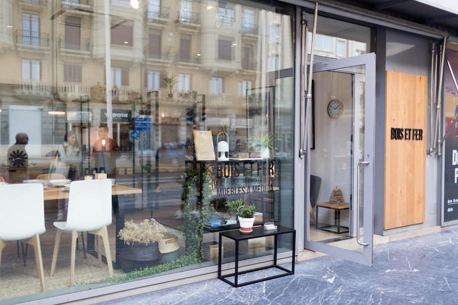 Escaparate de la tienda de muebles de diseño Bois et Fer