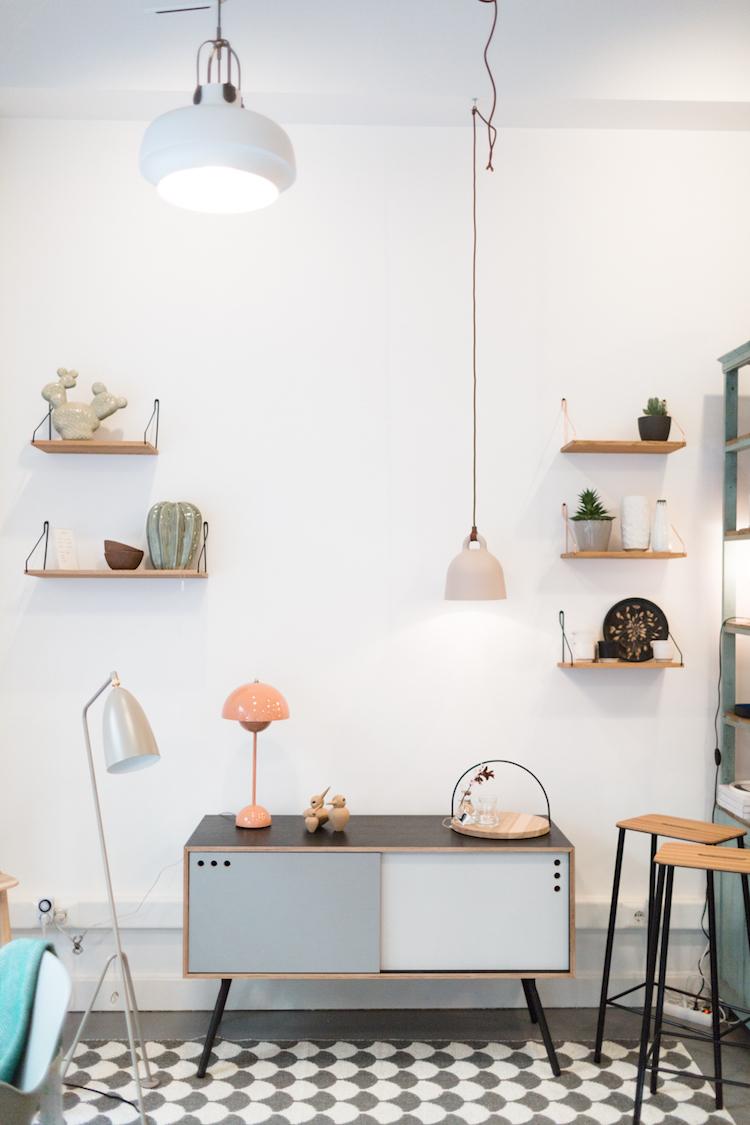 Algunos de los muebles de estilo nórdico de la tienda de decoración Kado