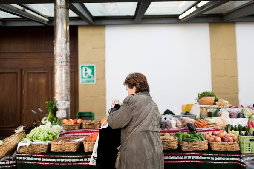 El mercado tradicional de la Bretxa