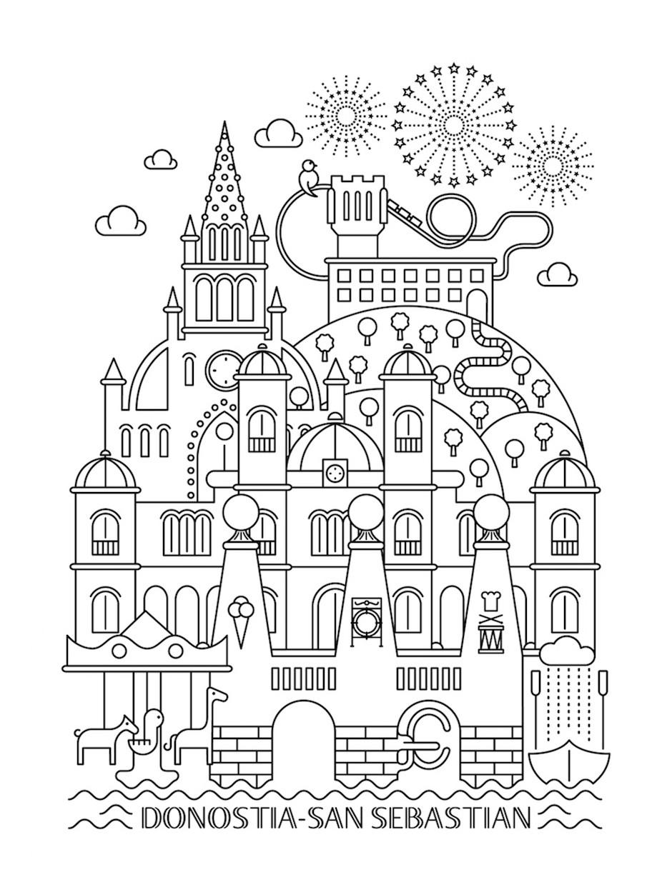 Ilustración sobre Donosti-San Sebastián de Marc Pe