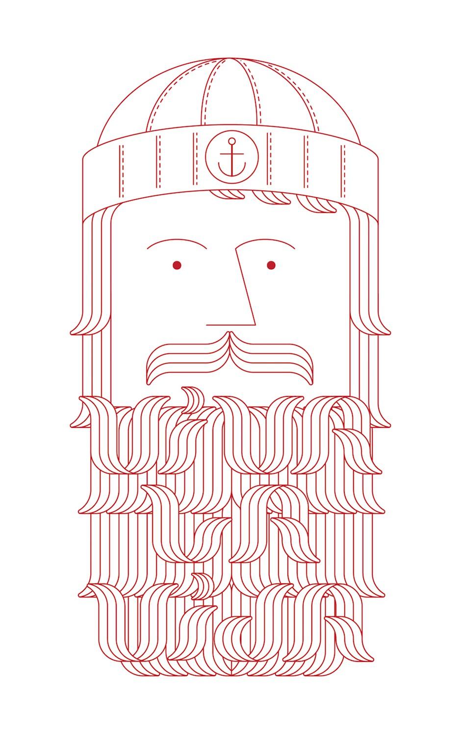 Ilustración de marinero de Marc Pe