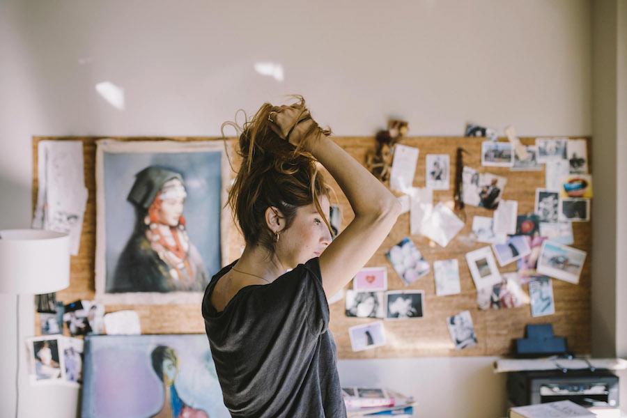 Carolina Otaduy en su estudio